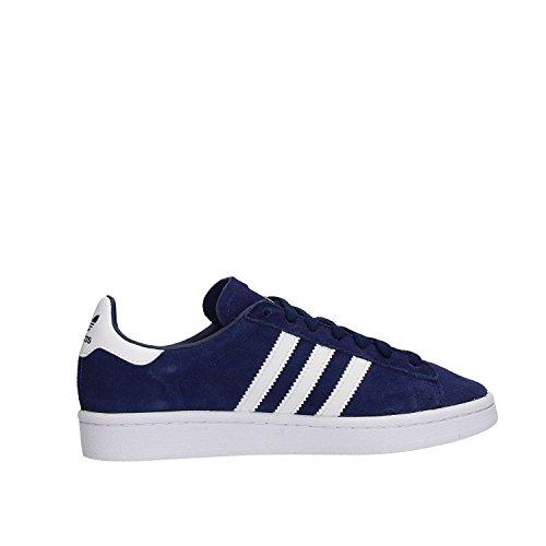 adidas Unisex-Kinder Campus Sneakers Blau (Dark Blue/footwear White/footwear White)
