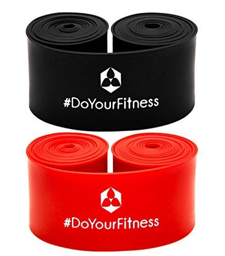 #DoYourFitness 2er Set Flossband »Herculexx« 1mm & 1,2mm Stärke: Kompressions- und Widerstandsband zum Umwickeln der Muskeln und Gelenke, in verschiedenen Stärken Farbe: schwarz/rot