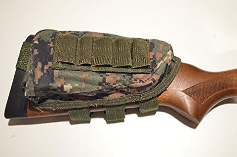 Acide tactique® Buttstock Fusil de chasse fusil Coque Support & Cheek Rest Pochette numérique Woodland