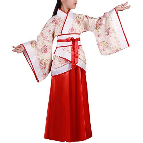 idung Tang Anzug - Chinesisch Stil Hanfu Kinder Bühne Show Leistung Cosplay National Traditionell Drama Retro Folk Kostüme ()