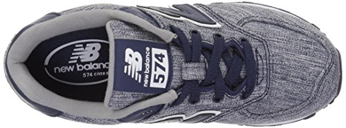 New Balance KL574, Sneakers basses fille bleu/blanc