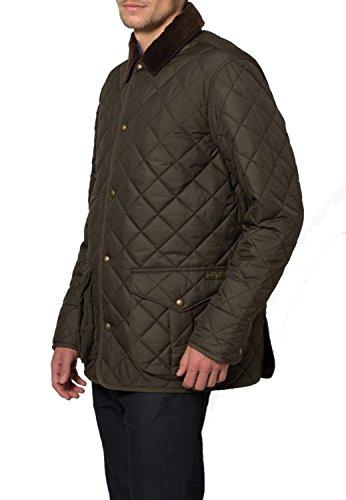 Men Polo Ralph Lauren Danbury Quilted Car Coat Jacket Litchfield Olive Ph14