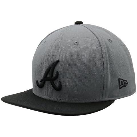 MLB Atlanta Braves MLB Basic Stm/Gry 59Fifty, STORM GRAY/BLACK, 7 1/8 by New Era