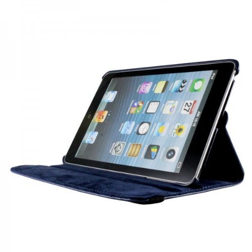 Apple Ipad Mini 4 (2015-2016) 360 Degree rotation Navy Blue Horizontal & Vertical View Leather Cover For Apple New Ipad Mini 4 (2015-2016) by G4GADGET®
