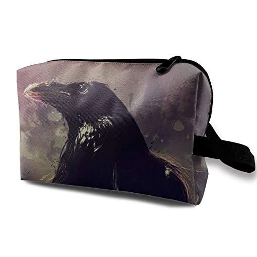 Reise-Kosmetiktaschen The Black Crow Travel Tragbare Make-up-Tasche Reißverschluss Geldbörse Hangbag - Make-up Duck Tasche Daisy