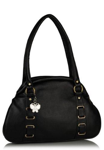 Butterflies Women's Handbag (Black) (BNS 0310)