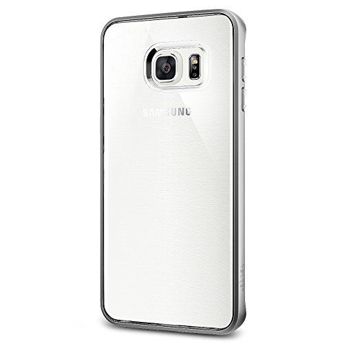 Spigen SGP11719 Neo Hybrid Crystal Custodia per Samsung Galaxy S6 Edge+, Argento Satinato