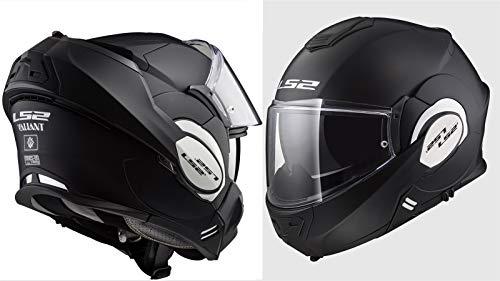LS2 - Casco da moto Valiant Mat, taglia XL, colore: Nero