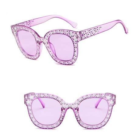 ZHAS High-End-Brillen Sonnenbrillen Damen Crystal Square Schwarz Grau Square Sonnenbrillen Damen Fashion Gradient Lens Sonnenbrille Für Damen Personalisierte High-End-Sonnenbrillen