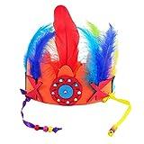 Hellery 4 Sets Tocado de Plumas de Indias con Abalorios Disfraces de Jefe de Aborígenes Regalo de Cumpleaños para Niños Adultos - #B