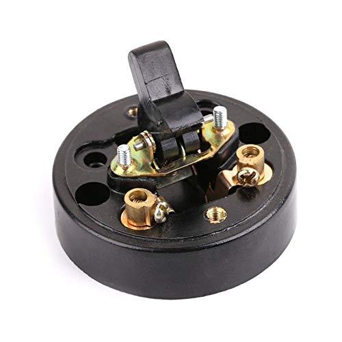 Interruptor de pared, redondo, retro, estilo antiguo, superficie simple, pero potente, con...