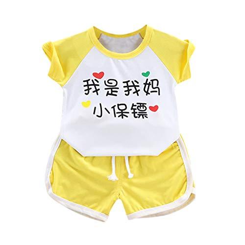 wuayi  Baby Jungen Kleidung, Kind Jungen T-Shirt (Chinesische Bedeutung: Ich Bin der kleine Leibwächter meiner Mutter) + Shorts 6 Monate - 3 Jahre