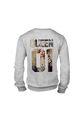 KING & QUEEN - SWEAT COL ROND QUEEN 01 - Queen Bee Gris
