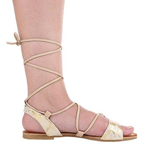 Ital-Design - Sandali  donna Beige (Beige - Beige Gold)