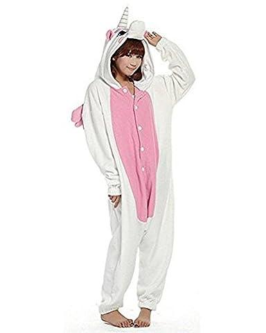 Couples Mixtes Costumes - Minetom Unisexe Femme Homme Licorne Animal Pyjamas