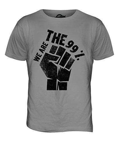 CandyMix Revolution Wir Sind Die 99% Herren T Shirt Hellgrau