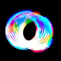 GloFX 6-LED Rave Spielzeug Orbit: Licht Regenbogen Spinning Licht Zeigen Orbital Spielzeug Super helle EDM Festivals