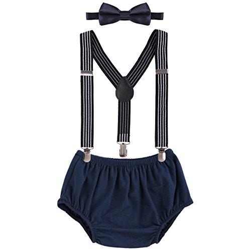 Obeeii Baby Bloomer Shorts + Fliege + Clip-on -