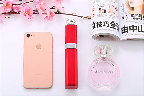 Mettime Selfie Stick, Winkel einstellbar Retractable Lippenstift Design Mini Portable, für iPhone 6 6s 7 7plus Android Samsung Galaxy, rot