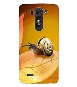 ColourCraft Lovely Snail Design Back Case Cover for LG G3 BEAT