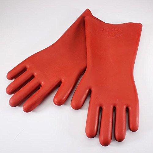 tfxwerws 12KV Sicherheit Elektrische Schutzisoliert Handschuhe (rot)