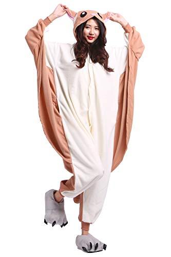 Kostüm Jumpsuit Onesie Tier Erwachsene Unisex Cosplay Schlafanzug Fliegende Ratte