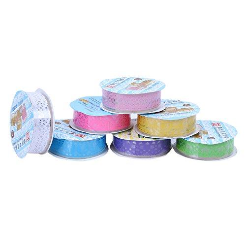 Ruikey Masking Klebeband Spitze Klebeband Papier Washi Masking Tape Dekoband Aufkleber Papier Dekorative Bunten DIY Klebeband 3 Stücke
