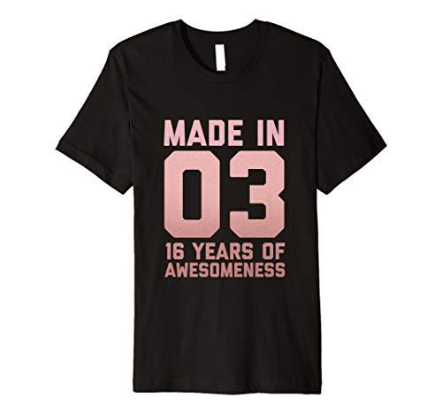 16. Geburtstag Hemd Mädchen Geschenke 16 Jahre alte Tochter