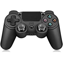 Yocktec Mando inalámbrico para PlayStation 4, inalámbrico Game Controller Gamepad Joystick para PlayStation 4 / PS4 Pro / PS4 Slim-Negro