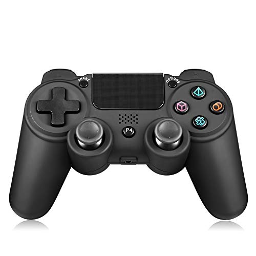 Yocktec Controller wireless per PS4, Wireless Gamepad Controller di gioco Wireless Joystick per PlayStation 4 / PS4 Pro / PS4 Slim-Nero