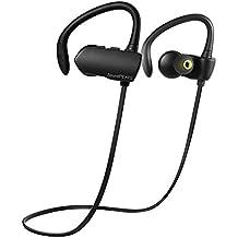 Auriculares Bluetooth 4.1 cascos inalámbrico Deportivos in-ear estéreo y Anti-sudor con Tecnología aptX Avanzada para iPhone, iPad, iPod,Samsung, Sony, HUAWEI, XIAOMI -Q9A (Negro)