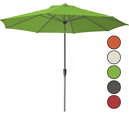 Dehner Sonnenschirm Milos, Ø 3 m, grün - in verschiedenen Farben