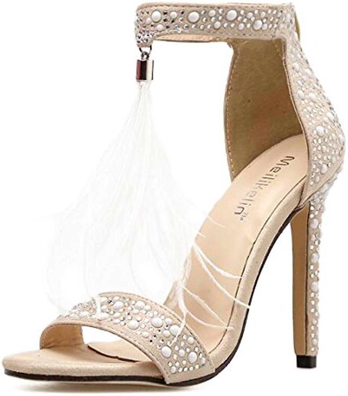 0b1ef064951f99 les sandales mesdames mesdames mesdames cheville talons des chaussures  ouvertes b07dyqsmsf club chaussures de soirée fête parent | La Conception  ...