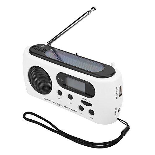 eecoo Radio Solaire d'AM/FM avec Lampe de poche Cas d'urgence avec Banque de Puissance de...