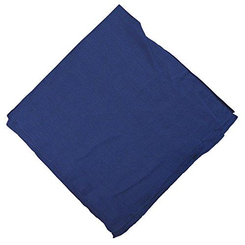 Halstuch 50x50cm Baumwolle 1A Qualität Einfarbig Bedruckbar Bestickbar Azofrei Uni Tuch Kopftuch Schultertuch Accessoire (1x, navy)