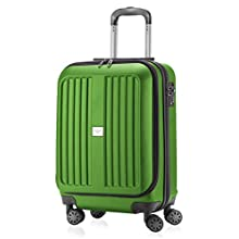 HAUPTSTADTKOFFER - X-Berg - Carry on luggage On-Board Suitcase Cabin Bag Hardside Spinner Trolley 4 Wheel, TSA, 55 cm,Applegreen mat