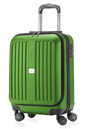 HAUPTSTADTKOFFER - X-Berg - Handgepäck Koffer Trolley Hartschalenkoffer, TSA, 55 cm, 42 Liter, Apfelgruen matt