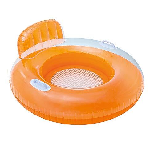 Yugang yupen Erwachsene Candy Farbe Schwimmstuhl Kind Schwimmende Reihe Rückenlehne Griff Schwimmring Einzel Schwimmbett Stuhl 120 cm Schwimmring