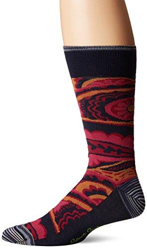 Robert Graham Men's Nohar, Navy, Sock Size:10-13/Shoe Size: 6-12