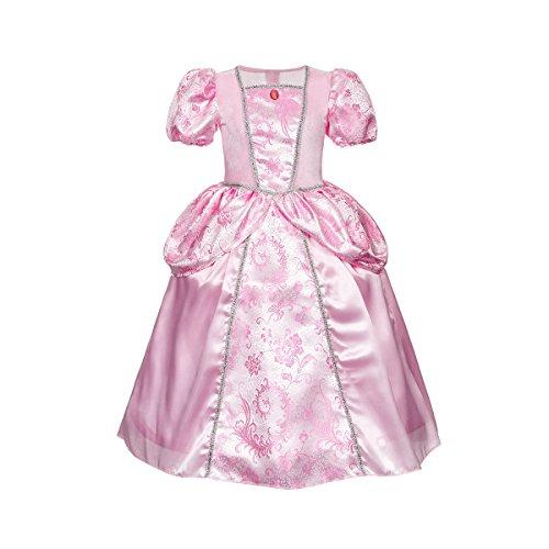 Kostümplanet® Prinzessin-Kostüm Mädchen rosa Prinzessin-Kleid Kinder Größe 128