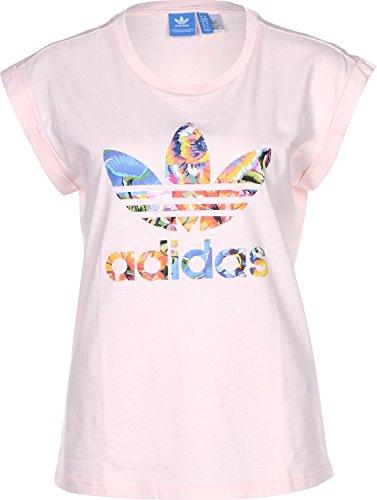 adidas Damen Floralita Bf Roll Up T-Shirt Pink