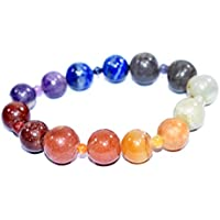 Bracelet Seven Chakra 12 mm with 3 mm Birthstone Handmade Healing Power Crystal Beads preisvergleich bei billige-tabletten.eu