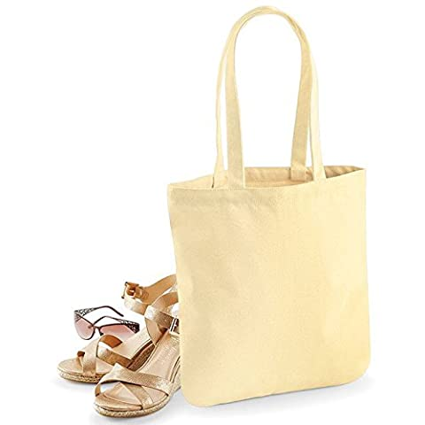 Westford Mill EarthAware Organic Spring Tote Bag Premium Heavyweight Fabric (Pastel Lemon)