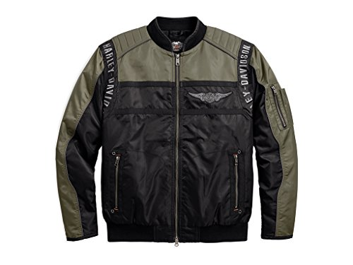 Harley Davidson Men's Mainstreet Nylon Bomber Jacke, 98583-17VM, L Nylon Jacke