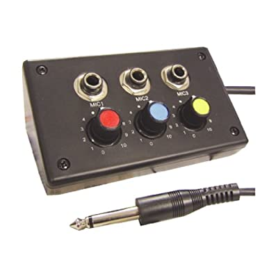 3 Channel Way Mini Microphone Mixer Mic Connecting Box Level Volume Control