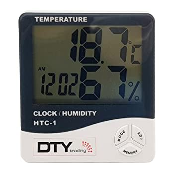 DTY Trading LCD Digital Temperature Humidity Meter Thermometer With (White)