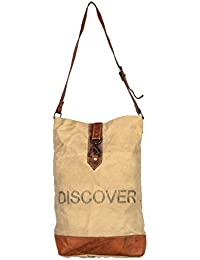 Women's Canvas Side Sling Bag Purse For Girls Cross Body Bags