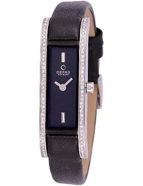 Obaku Denmark Damen-Armbanduhr Analog Quarz Leder V159LEABRB