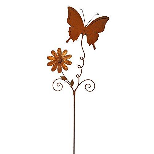La Grande Prairie Pic Tuteur Papillon à Planter 168x34 cm