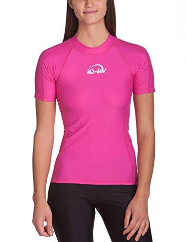 iQ-UV Damen 300 Eng Geschnitten Schutz T-Shirt Uv-Shirt, Rosa, XS (36)